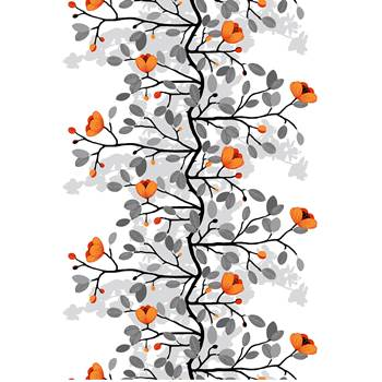 Noise absorbing wall tapestry, 1400x2200 mm, Ophelia, orange