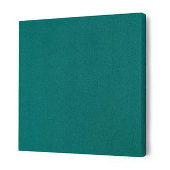 Noise absorbing panels, square, 600x600x50 mm, green