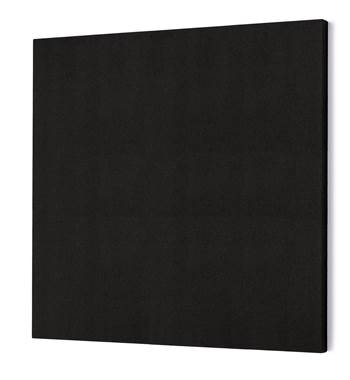 Noise absorbing panels, square, 1180x1180x50 mm, black