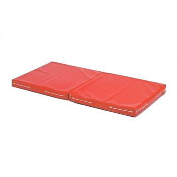 Folding play mat, vinyl cover, red