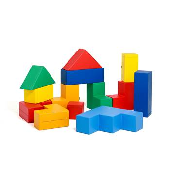 Foam building blocks, large set