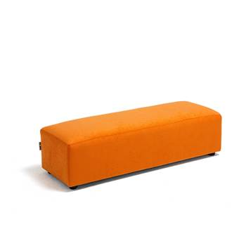 Caterpillar sofa, large seat, 1040x360x270 mm, orange