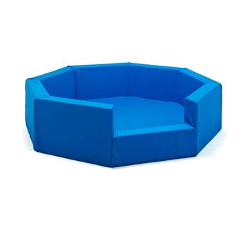 Octagonal foam pit, cotton cover, blue