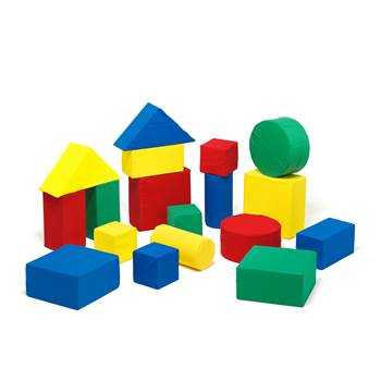 Foam building blocks, 18 piece set, combination 3