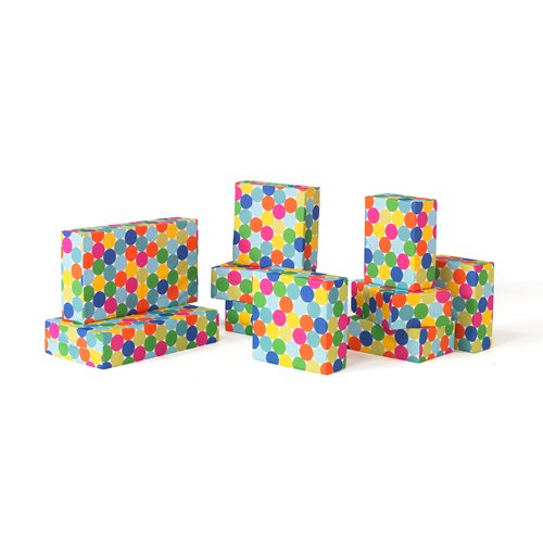 Polka dot foam building blocks, 10 piece set