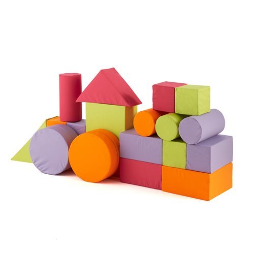 Pastel foam building blocks, 20 piece set, combination 3