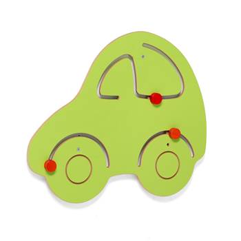 Interactive motor skills learning wall, car