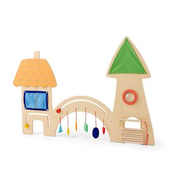 Motor skills wall hanging play unit