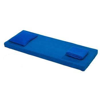 Zestaw z materacem Nattis, zimna pianka, niebieski