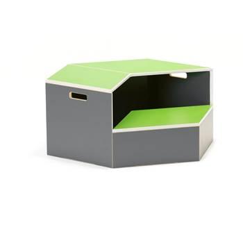 Hexagon staging unit, platform, green