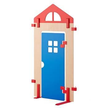 Akustyczna ścianka działowa, z drzwi