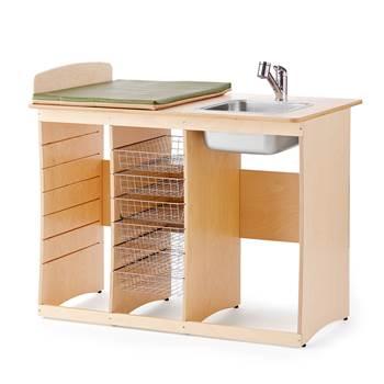 Skötbord Björk, 1200 mm, höger