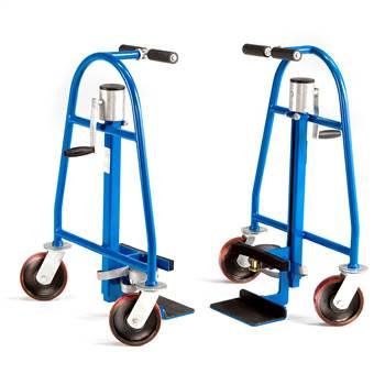 Wózek transportowy do niewygodnych i ciężkich elementów.