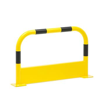 Pipe protector, straight, L 1000 mm, yellow-black