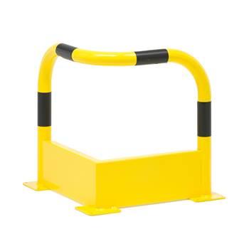 Avsperringsgjerde, hjørne, 500x500x500 mm, gul / svart