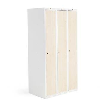 Roz student locker, 3 modules, 3 doors, 1740x900x550 mm, birch laminate