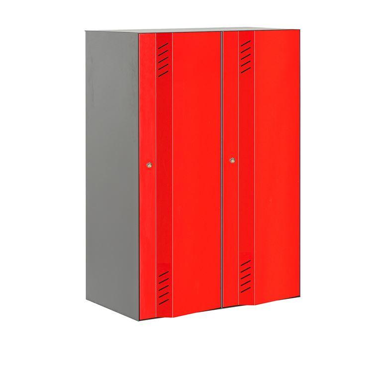 Pukukaappi Create Energy, 2-osainen, 1170x600 mm, harmaa, punainen