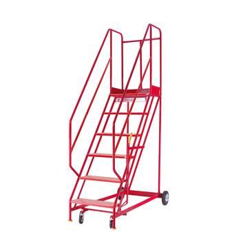 Steptek mobile steps, 6 treads, H 1500 mm, punched