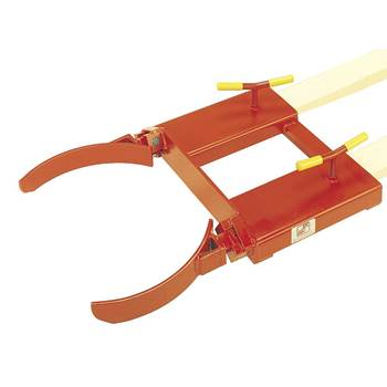 Drum clamp, single, 500 kg load, orange