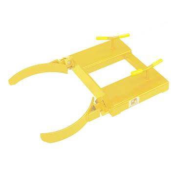 Drum clamp, single, 500 kg load, yellow