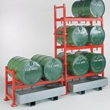 Drum racking system: sump unit