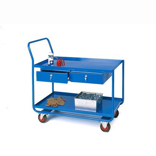 Workshop trolley: 2 drawers: L1160xW620mm
