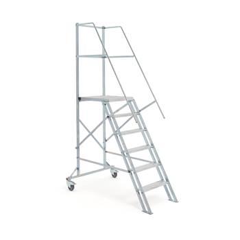 Mobil trappstege, 6 steg, höjd: 1200 mm