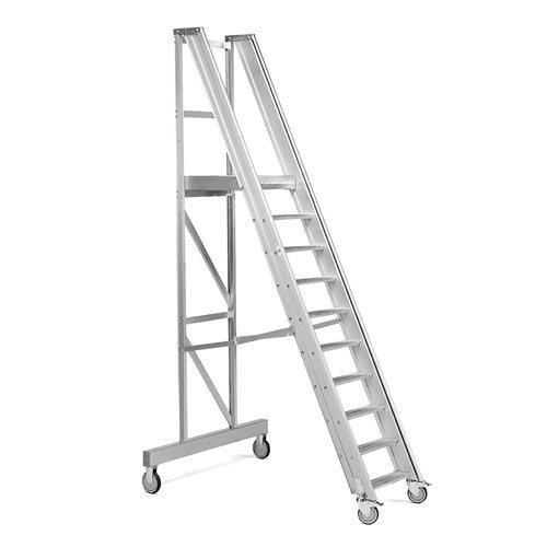 Arbetstrappa, 10 steg, höjd 2000 mm AJ produkter