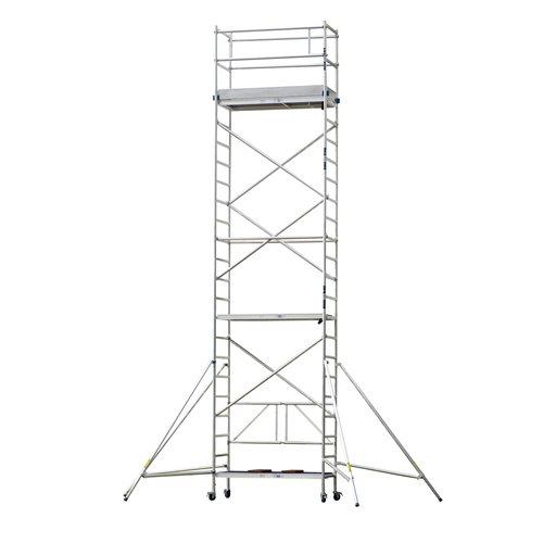 Aluminium scaffold: 7.8 m reach