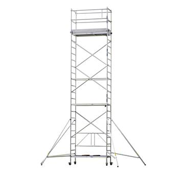 Aluminium scaffold, 7.8 m reach