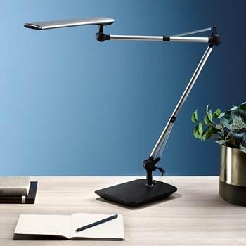 Kirjoituspöytälamppu LED himmentimellä, hopea