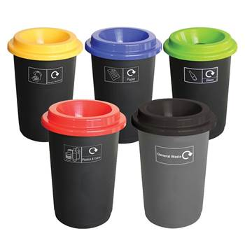Round recycling bin system