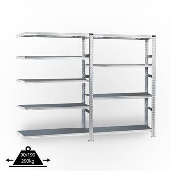 Galvanised shelving system