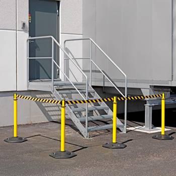 Outdoor belt barriers