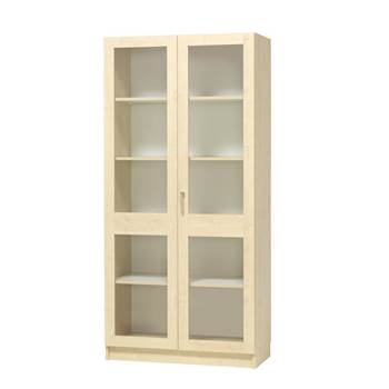 Equipment display cabinet, full glass doors