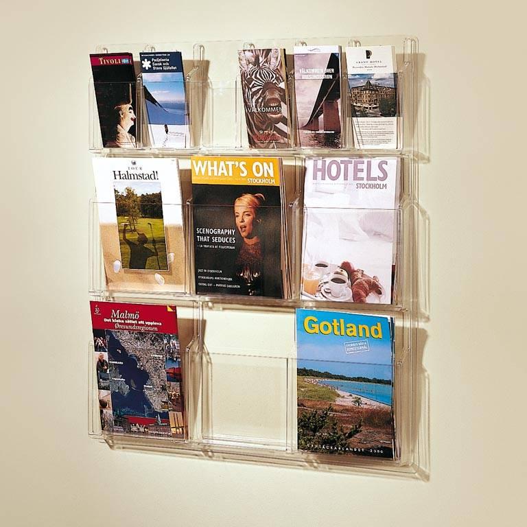 Exclusive magazine and brochure rack