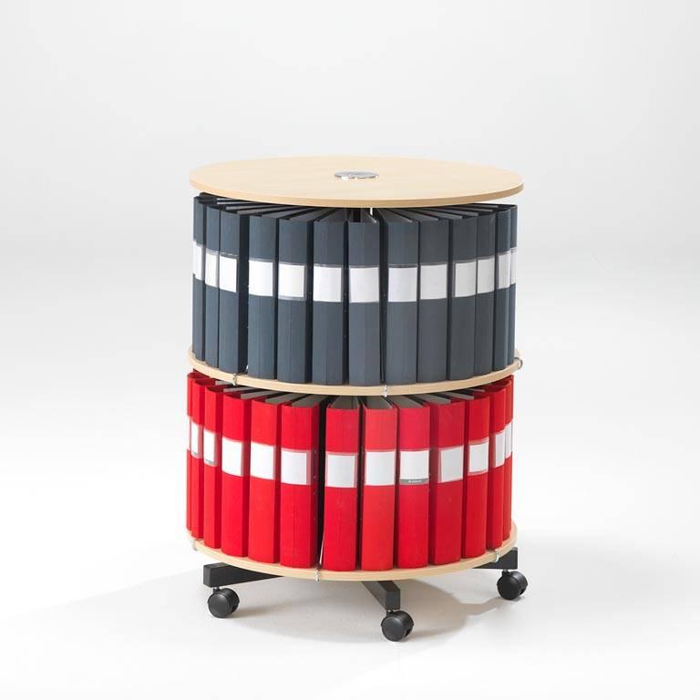 Rotary binder case: 2 shelves