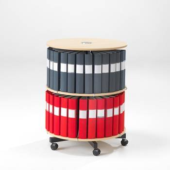 Rotary binder case: 2 shelves