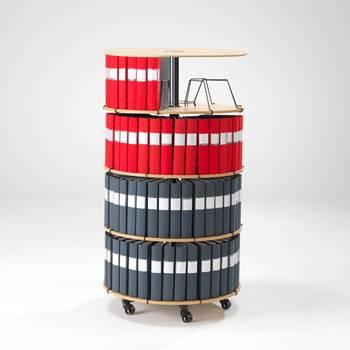 Rotary binder case: 4 shelves