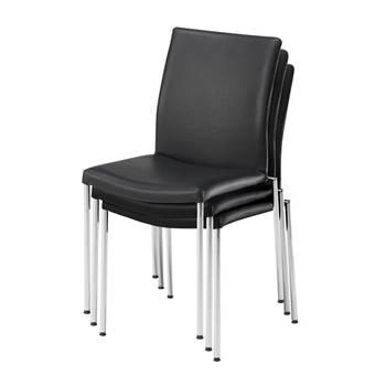 Konferansestol i skinn eller stoff