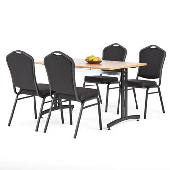 Restaurant package deal: table + 4 chairs