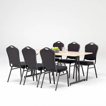 Restaurant package: 1 x table + 6 x chairs