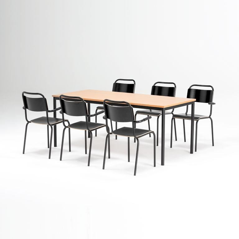 Canteen furniture package deal table 6 chairs aj products for Furniture packages uk