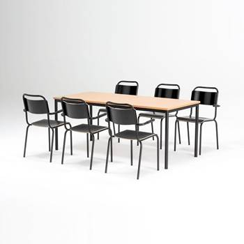 Canteen furniture package deal: table + 6 chairs