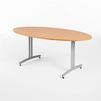 Oval canteen table