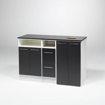 Cabinet with right-hand waste disposal
