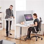 Höj- och sänkbart skrivbord Adeptus med rak skiva