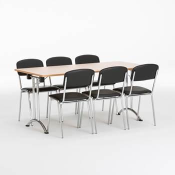 Kantinemøbler til pakkepris - Sammenleggbart bord+ 6 stoler