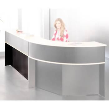 Reception desk: straight desk unit