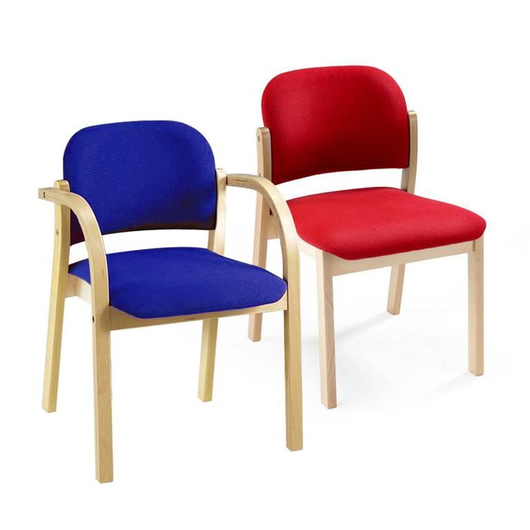 Upholstered wooden chairs